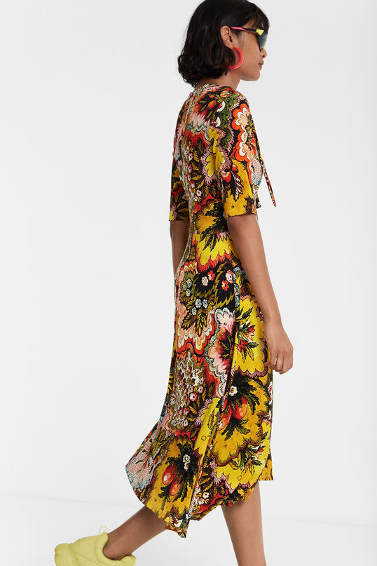 Flared dress with neck bow Designed by M. Christian Lacroix | Desigual