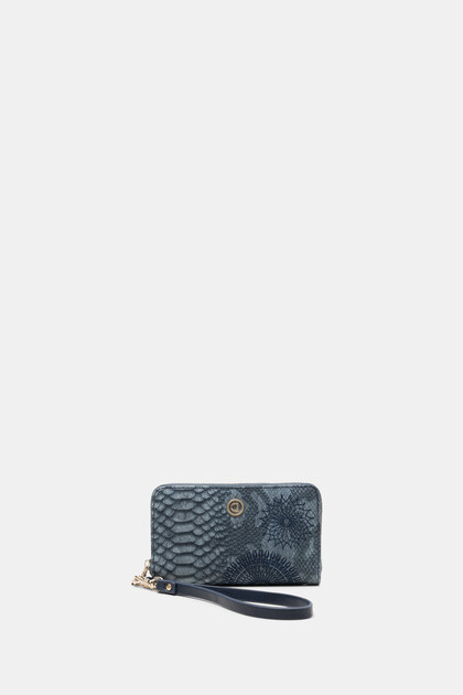 Rectangular wallet reptile skin effect