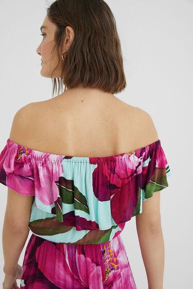 Langes Kleid Carmen-Ausschnitt | Desigual