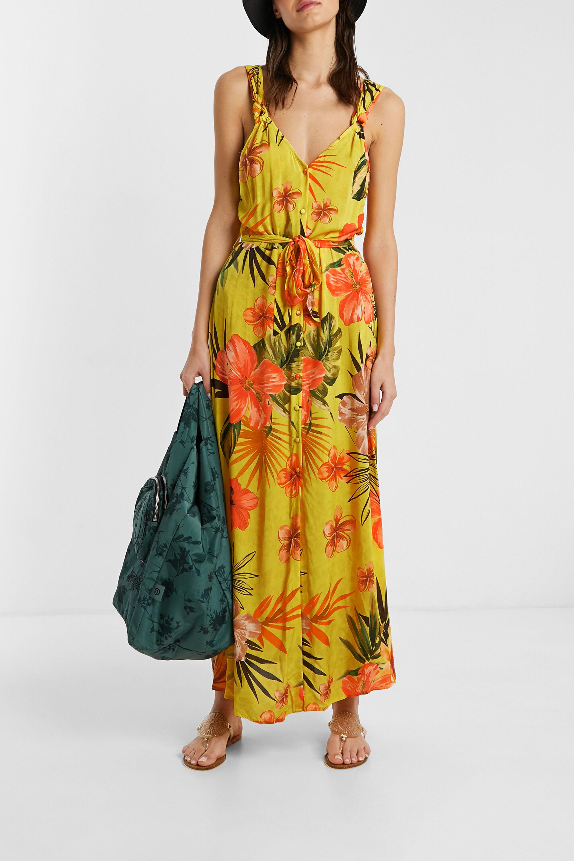 Vestito eco lungo floreale | Desigual