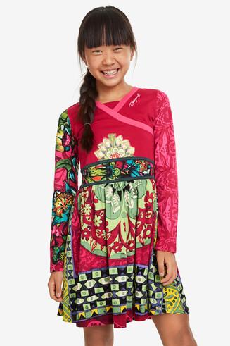 Vestit creuat floral