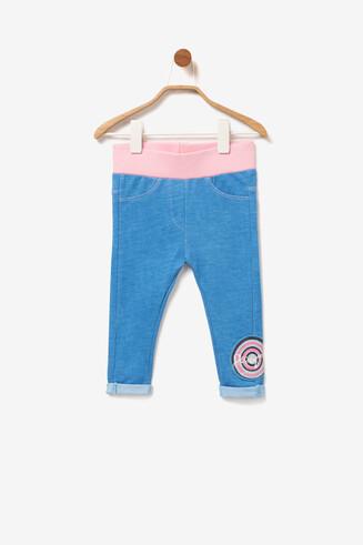 Blaue Leggings mit Waschung Rocio