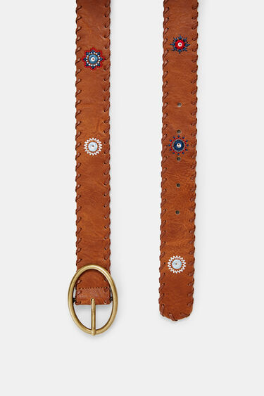 Leather effect belt mandalas | Desigual
