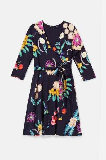 Vestit creuat punt floral | Desigual