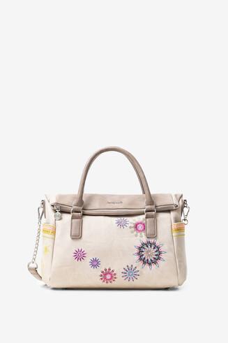 曼荼羅模様刺繍 ハンドバッグ