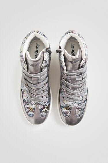 Sneakers hoher Schaft Fischschuppenoptik | Desigual