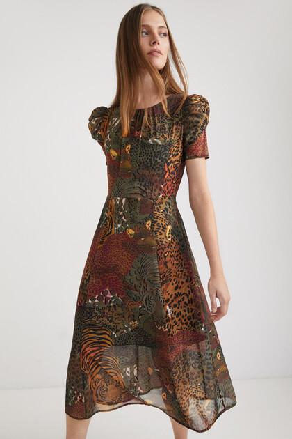 Short sleeve midi-dress