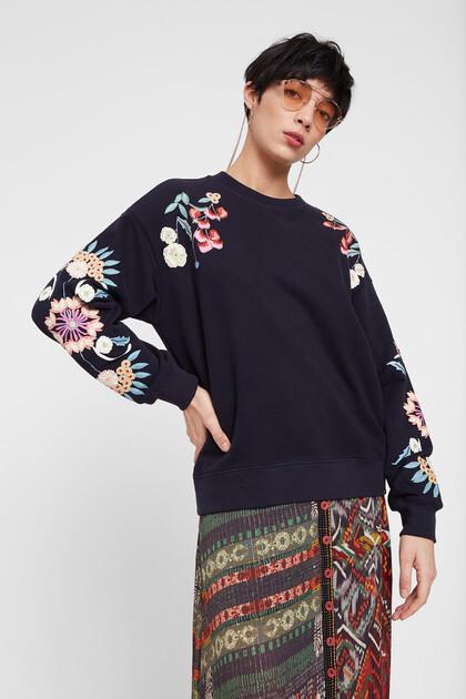 Sweatshirt met bloemenprint