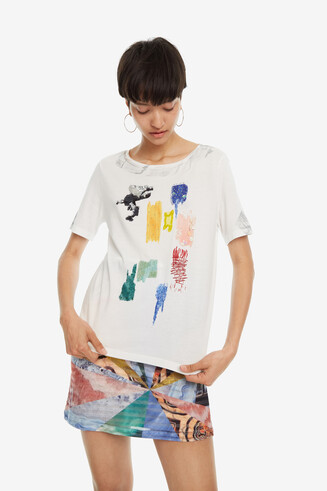 T-shirt with Brush Strokes Canterbury