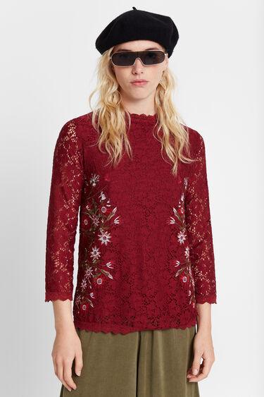 Blouse flowers lace | Desigual