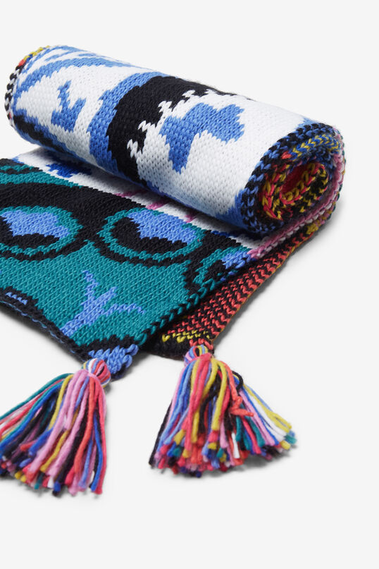 Écharpe tricot pompons | Desigual
