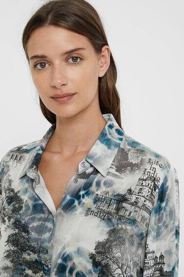 T-shirt long style Inde | Desigual