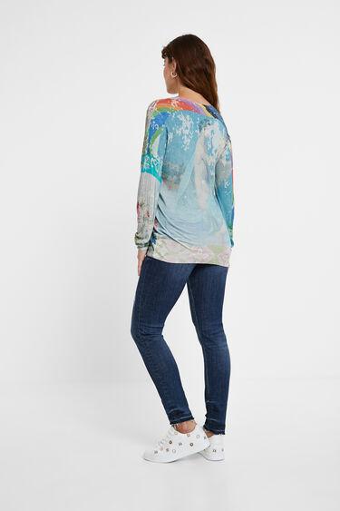 Boho floral fine jumper | Desigual