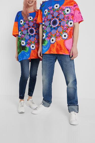 Unisex psychedelic T-shirt with mandala | Desigual