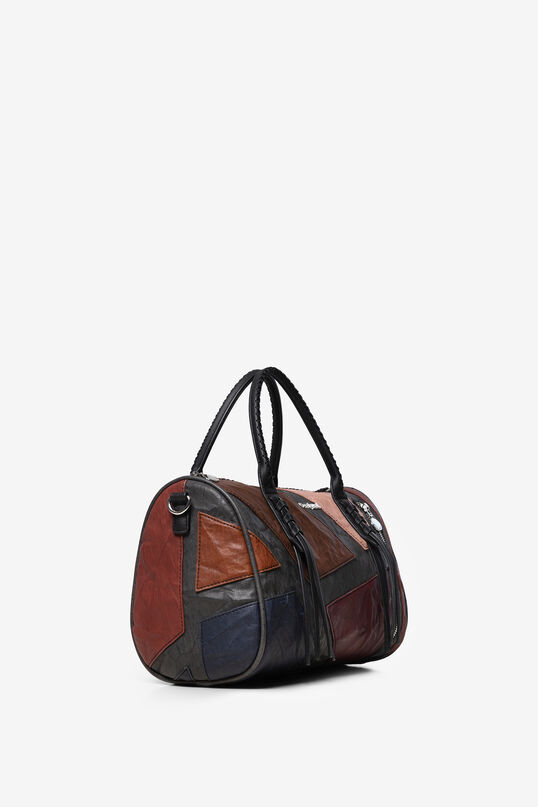 Cylinder handbag  synthetic leather patch   Desigual