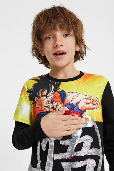 "T-shirt paillettes "" Dragon Ball Z "" 
