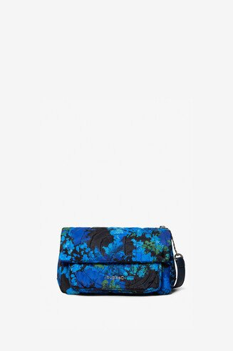 Padded bag with floral camouflage