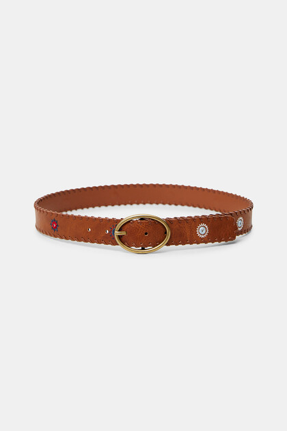 Leather effect belt mandalas