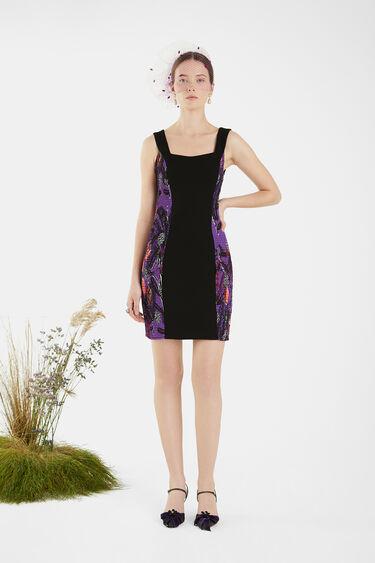 Slim dress side gathers | Desigual