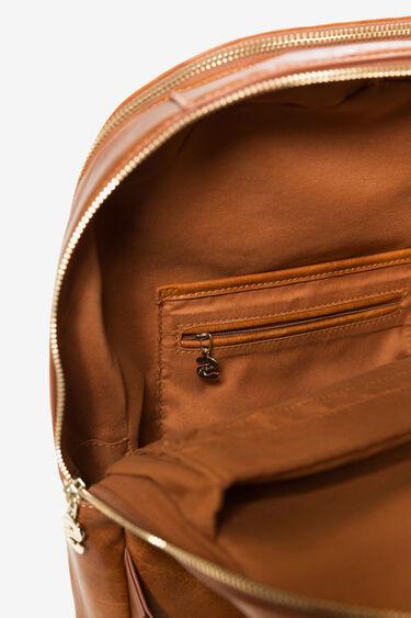 Motxilla brodats d'efecte pell | Desigual