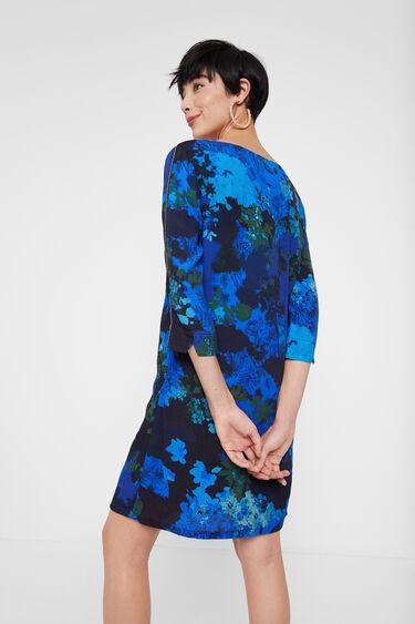 Robe droite camouflage fleuri | Desigual