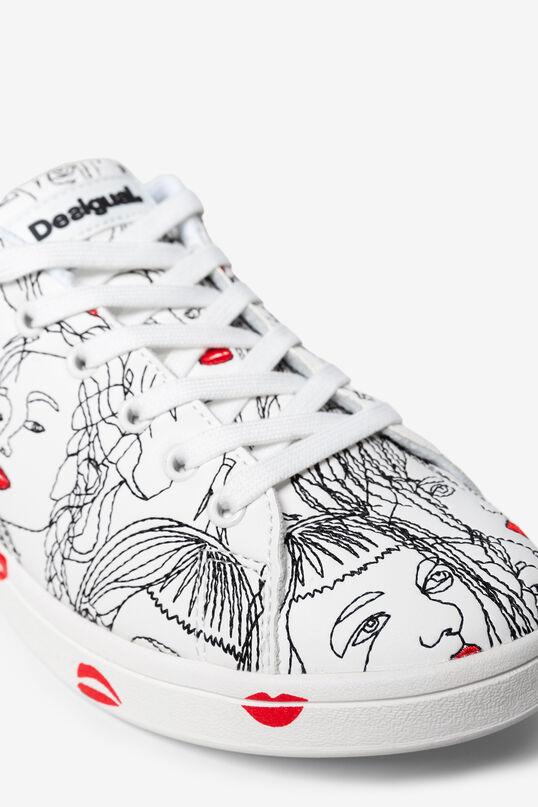 Zapatilla Cosmic print caras | Desigual
