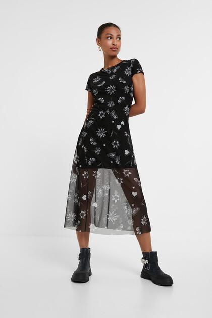 Floral midi-dress
