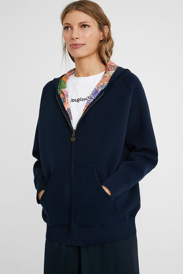 Reversible hood jacket | Desigual