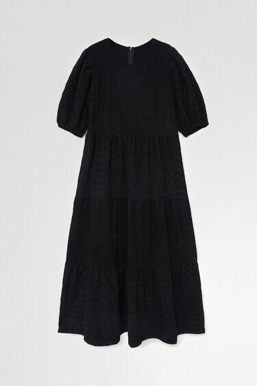 Vestit llis texturitzat midi | Desigual
