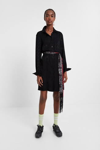 Shirt dress belt