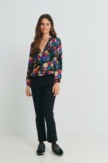 3/4 sleeve floral blouse | Desigual