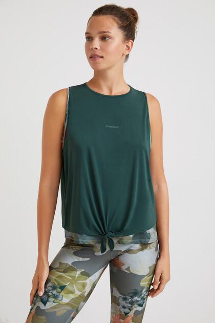 Sleeveless double T-shirt