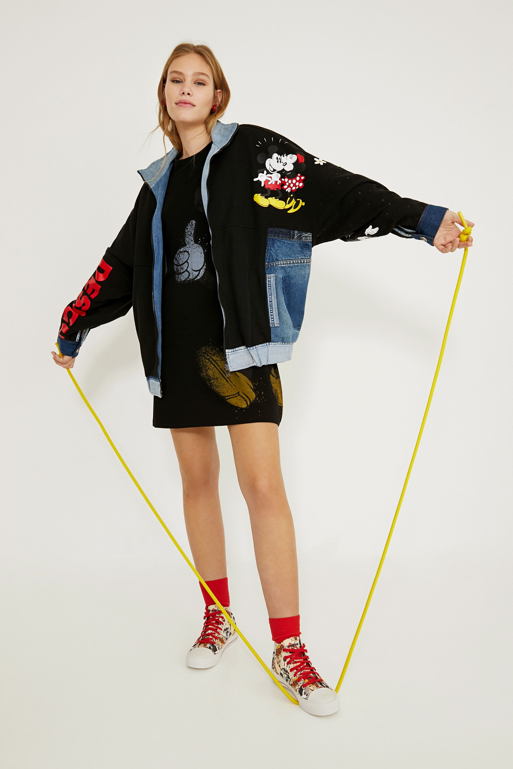 Giacca iconica di jeans oversize BLACK S