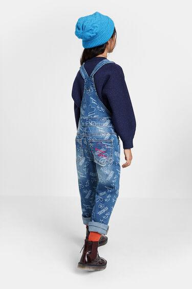 Bolimania print denim overalls | Desigual