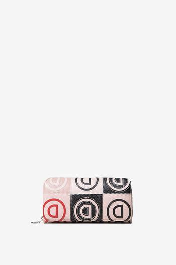 Portefeuille à patchwork en logomania | Desigual