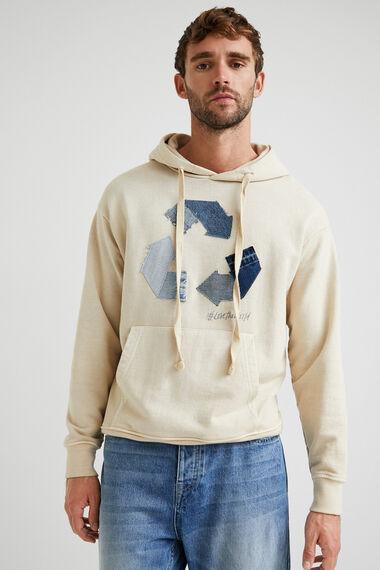 Sweat-shirt en coton recyclé