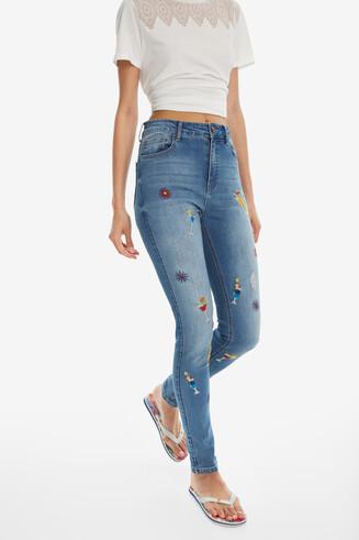 Slimfit broek met hoge taille Maitai