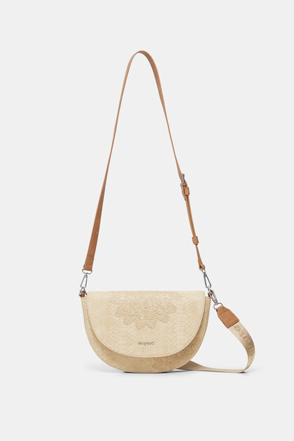 Crossbody bag reptile leather-effect