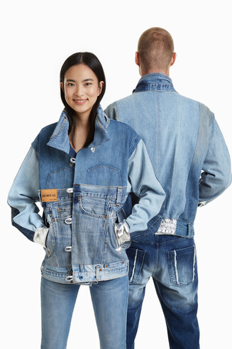 Iconic denim scraps Jacket