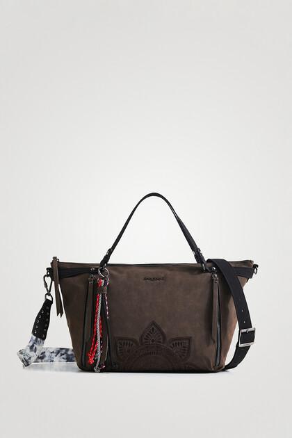 Big handbag embossed