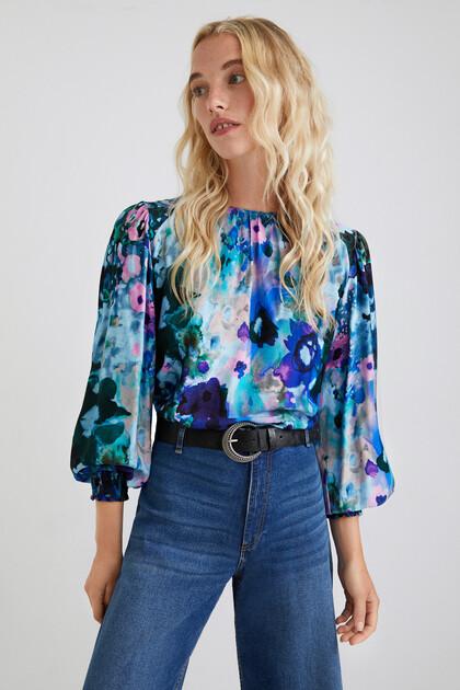 Loose floral blouse