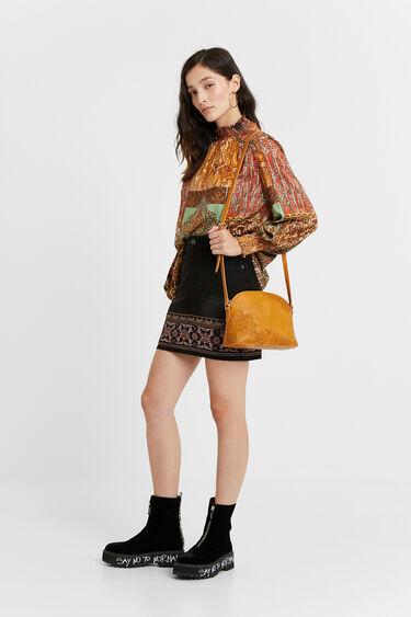 Minifalda vaquera boho | Desigual