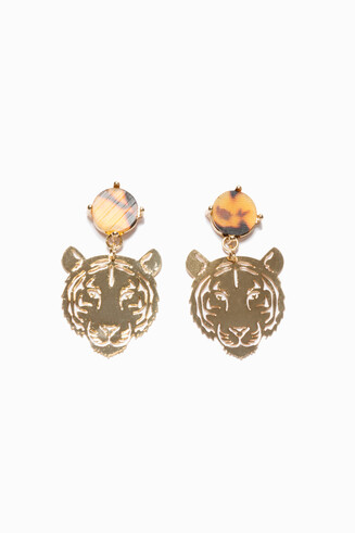 Boucles d'oreilles Tigre Head