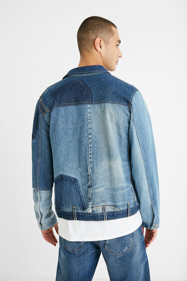 Veste patch denim upcycling | Desigual