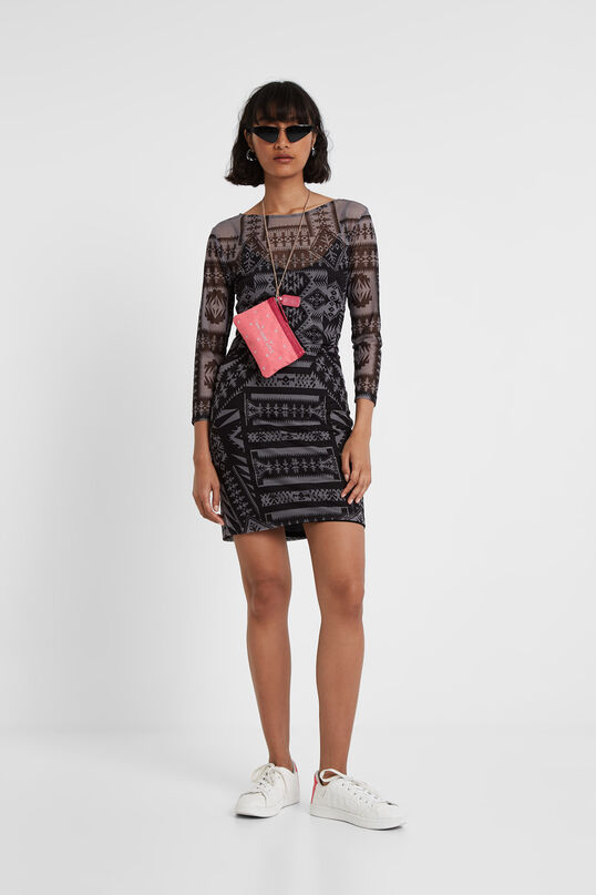Geometric print fitted dress Designed by M. Christian Lacroix | Desigual