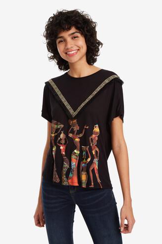 Shirt mit Fransen an der Passe Yamila