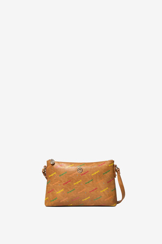 Sling bag in multicolour logomania
