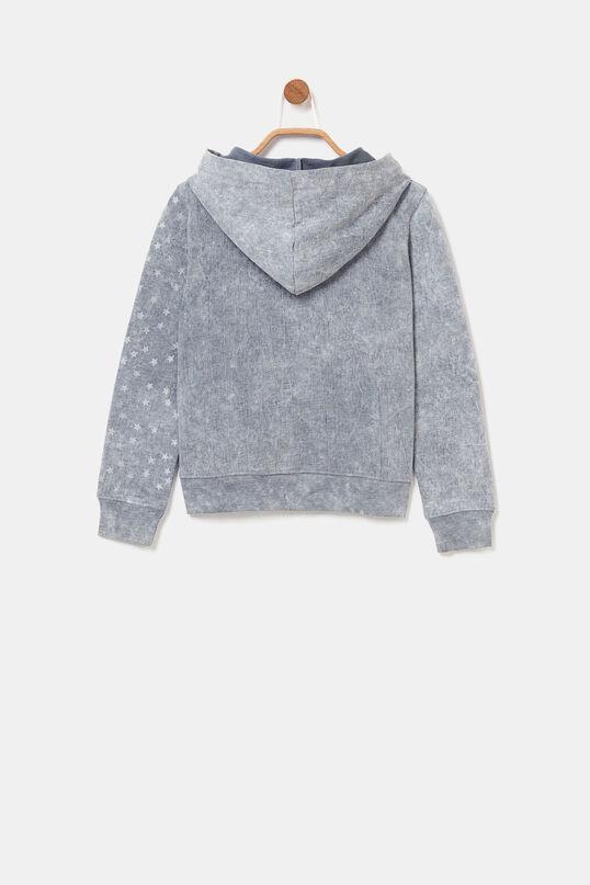 Hooded sweatshirt jacket | Desigual