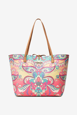 Reversible Bag with Indian Print Capri