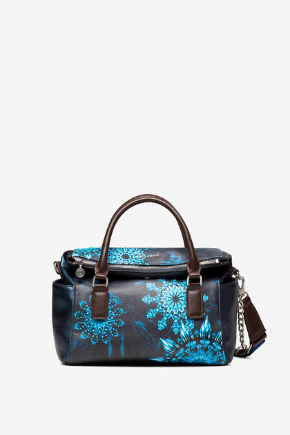 Handtasche mit blauen Mandalas
